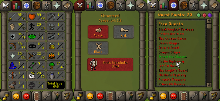 RS 07 Account (ATK 95, STR 95,DEF 95, RNG 99)