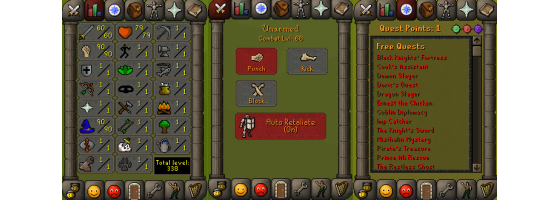 RS 07 Account (ATK 60, STR 90, DEF 1, MAG 90)