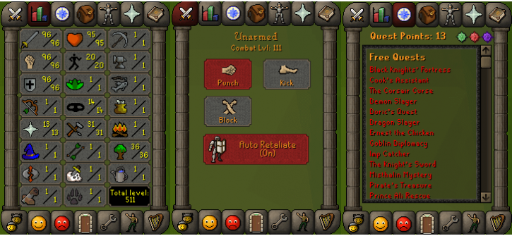 RS 07 Account (ATT 96, STR 96, DEF 96)