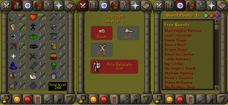 RS 07 Account (ATK 40, STR 70,DEF 1, RNG 70)