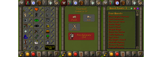 RS 07 Account (ATK 40, STR 70,DEF 1, RNG 80)