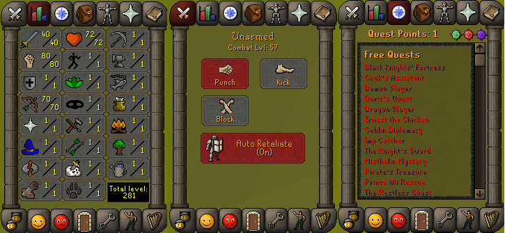 RS 07 Account (ATK 40, STR 80,DEF 1, RNG 70)