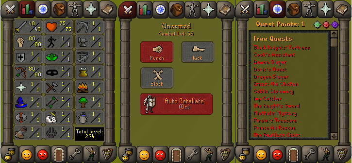 RS 07 Account (ATK 40, STR 80,DEF 1, RNG 80)