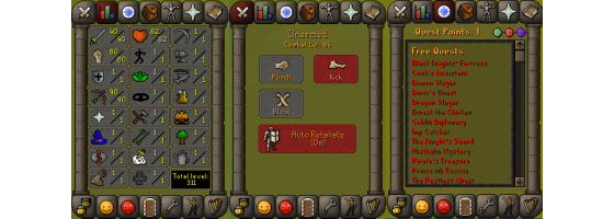 RS 07 Account (ATK 40, STR 80,DEF 1, RNG 90)
