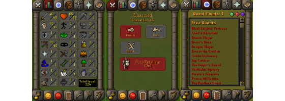 RS 07 Account (ATK 40, STR 90,DEF 1, RNG 90)