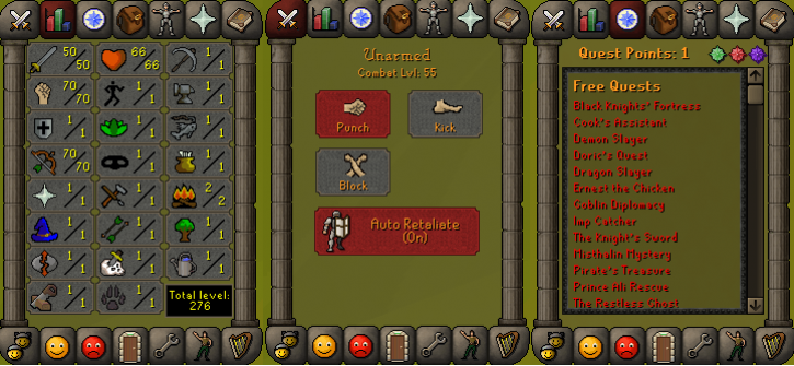 RS 07 Account (ATK 50, STR 70,DEF 1, RNG 70)