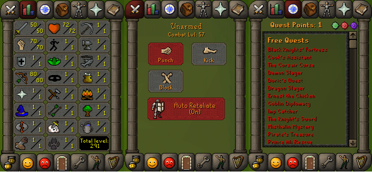 RS 07 Account (ATK 50, STR 70,DEF 1, RNG 80)