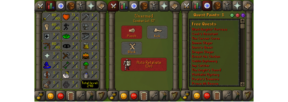 RS 07 Account (ATK 60, STR 60,DEF 1, RNG 80)