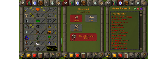 RS 07 Account (ATK 60, STR 80,DEF 1, RNG 80)