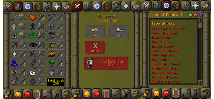 RS 07 Account (ATT 60, STR 60, DEF 60)