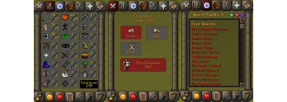 RS 07 Account (ATT 70, STR 70, DEF 70)