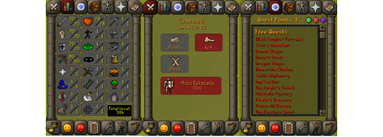 RS 07 Account (ATK 70, STR 70,DEF 70, RNG 80)