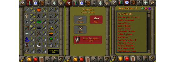 RS 07 Account (ATK 70, STR 70,DEF 70, RNG 70)