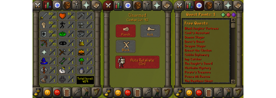 RS 07 Account (ATK 80, STR 80,DEF 80, RNG 70)